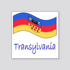 "Waving Transylvania Histori Square Sticker 3"" x 3"""